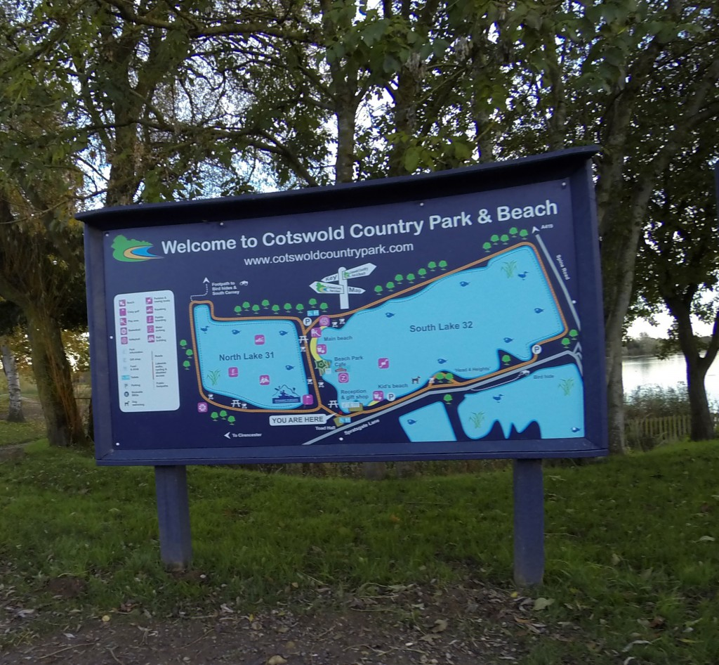 Park map sign