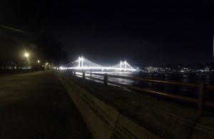 View of Albert Bridge at night