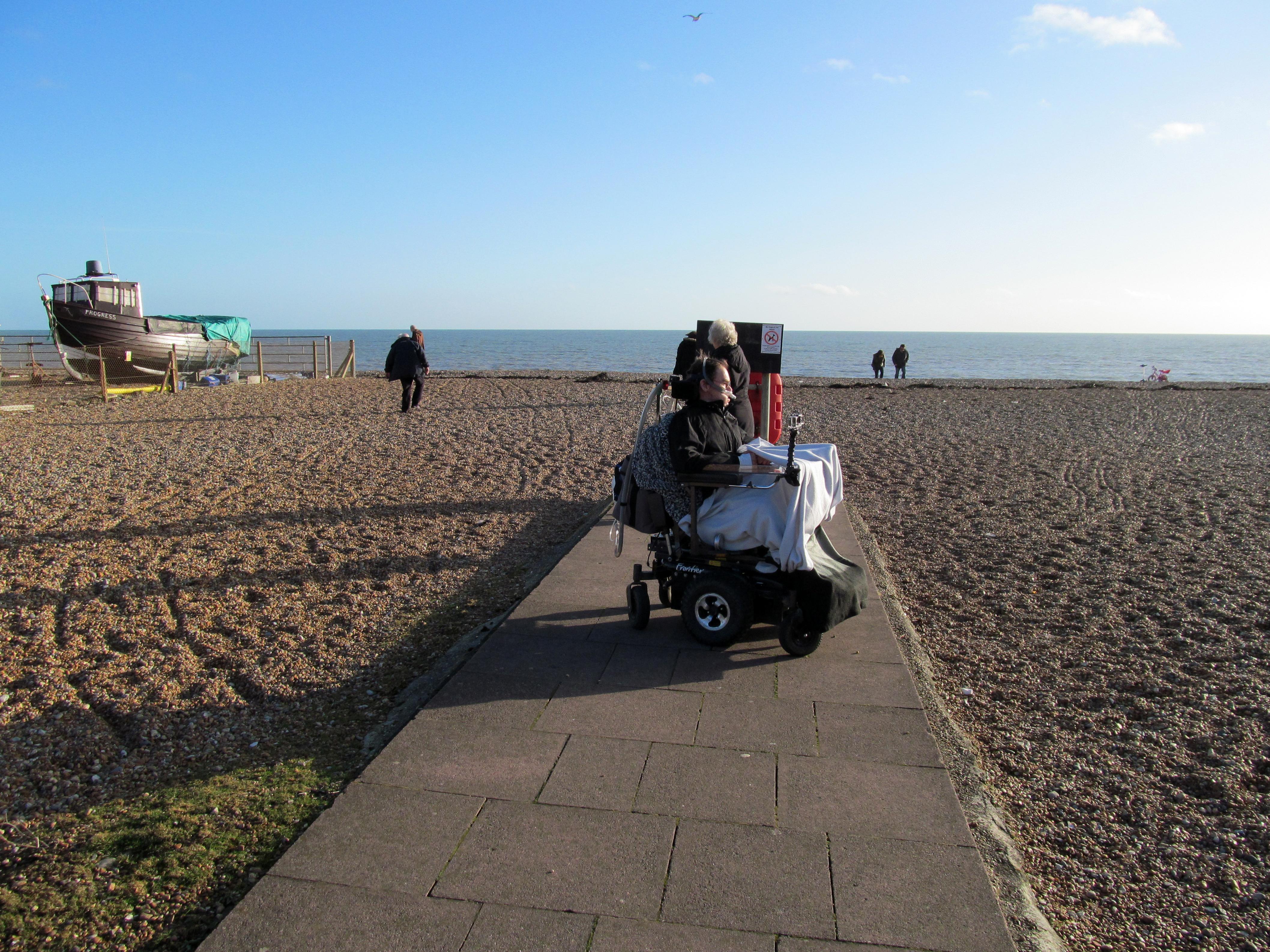 Daniel Baker on Hastings beach