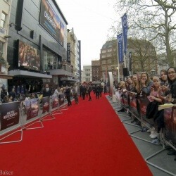 The red carpet at the Divergent movie première in London