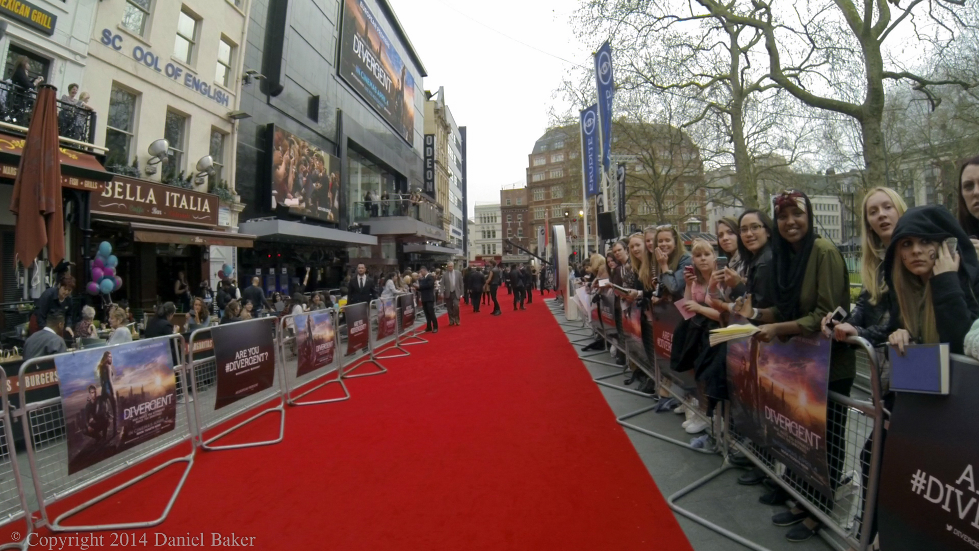 The Red carpet at the Divergent première in London