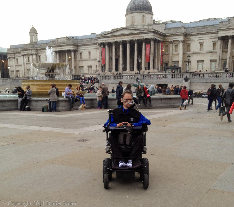 Daniel Baker in Trafalgar Square