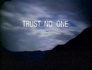 X-Files trust no one image