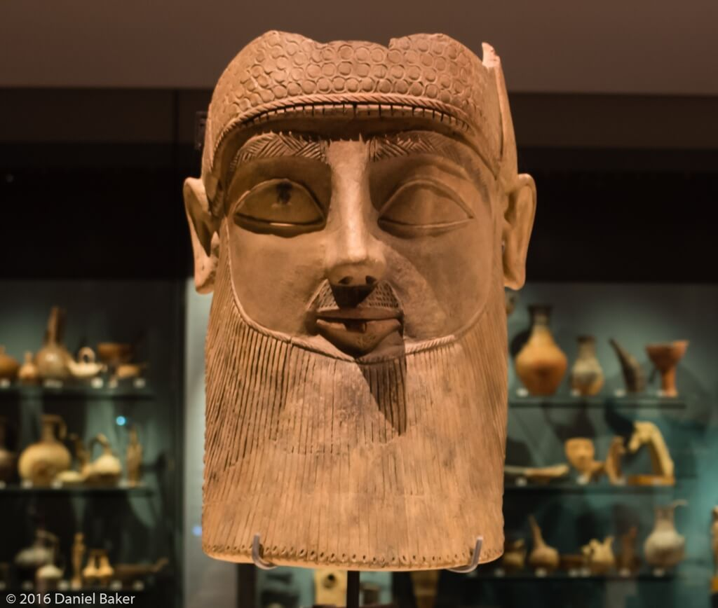 A Syrian style head statue at the Ashmolean Museum
