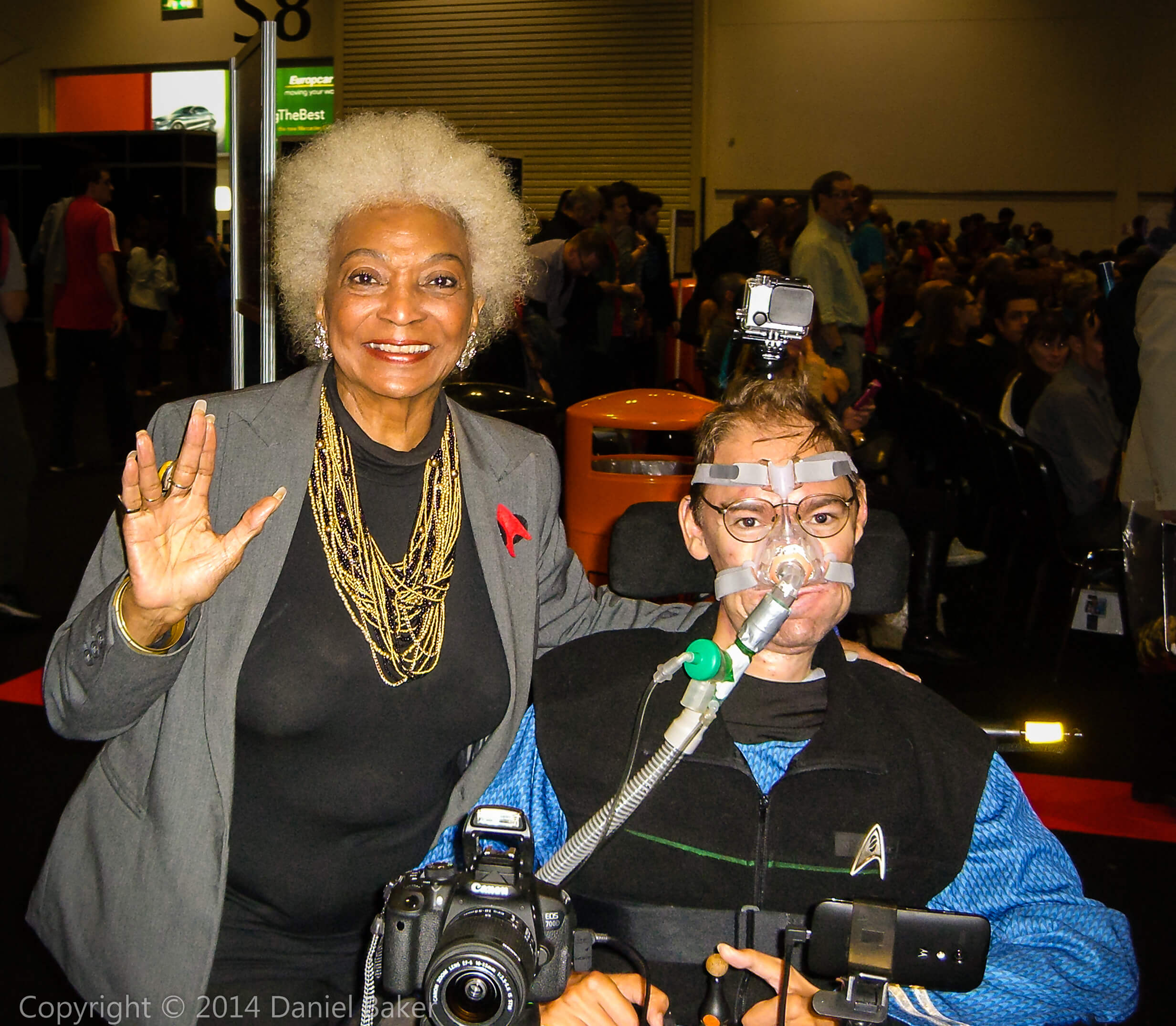 Nichelle Nichols and Daniel Baker at Destination Star Trek 3