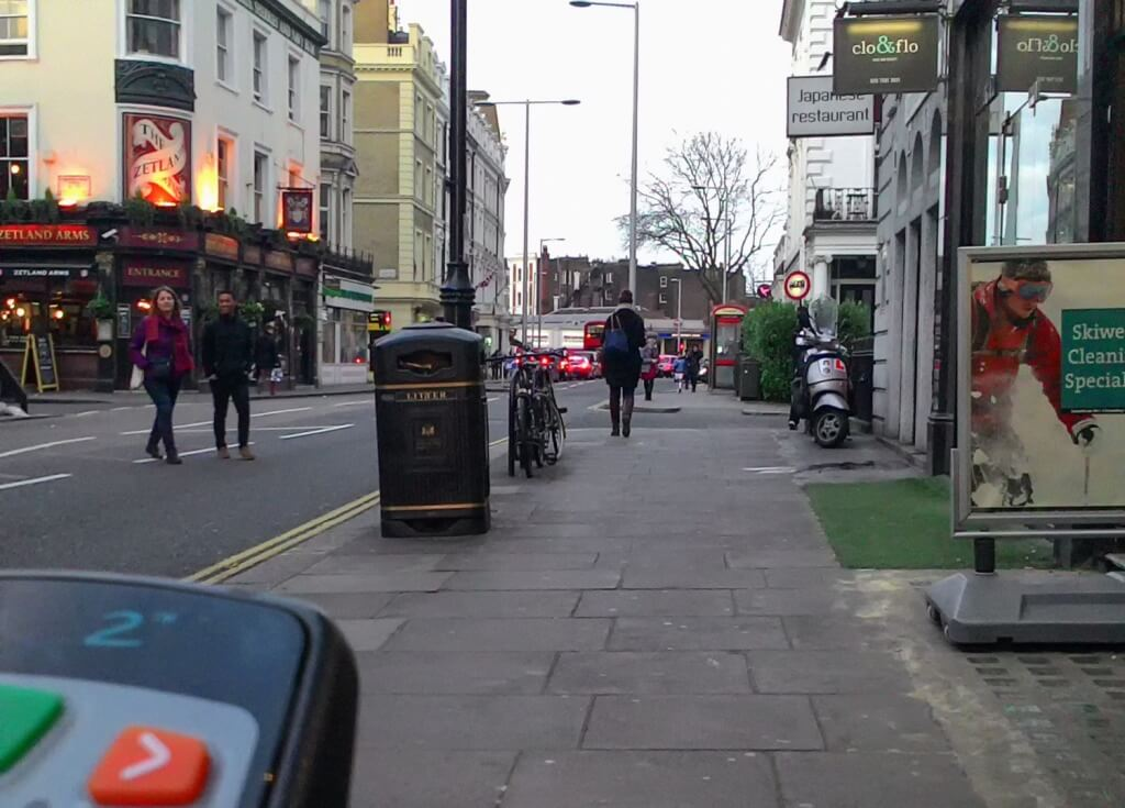 picture of a London street near the Brompton Hospital