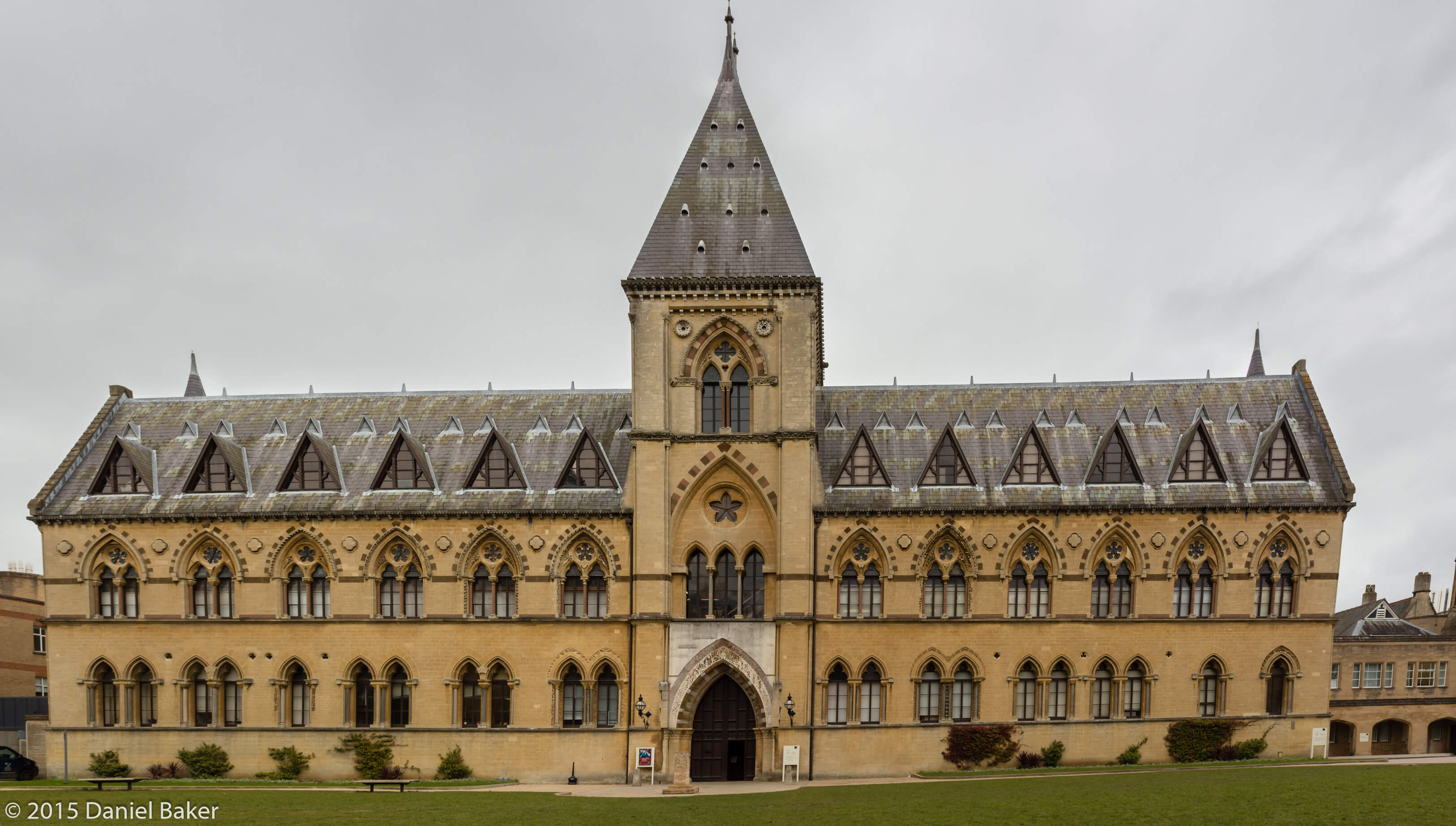 A photograph of the front of the Oxford University Museum of Natural History