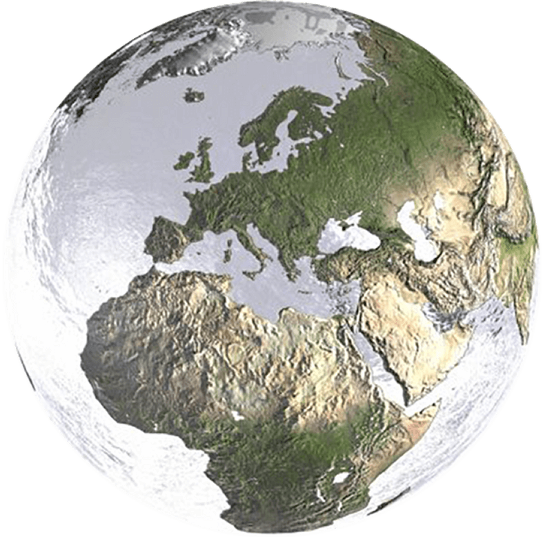 The Earth as a frosted glass marble