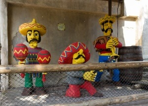 Mariachi band made from lego at Legoland 2014 - New Photographs April