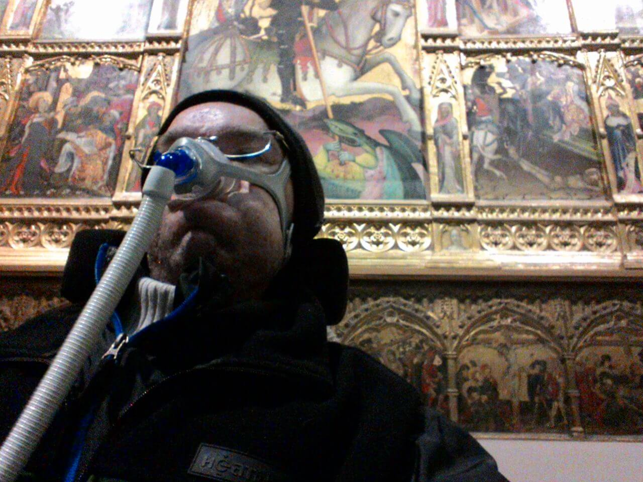 Daniel in victoria and albert museum Royal Brompton - Day 5