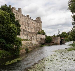 Photographs from Warwick Castle 2016 with moat