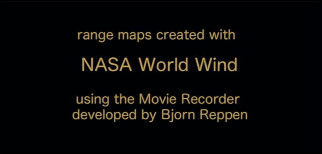 Watching Warblers West credits showing credit to NASA World Wind