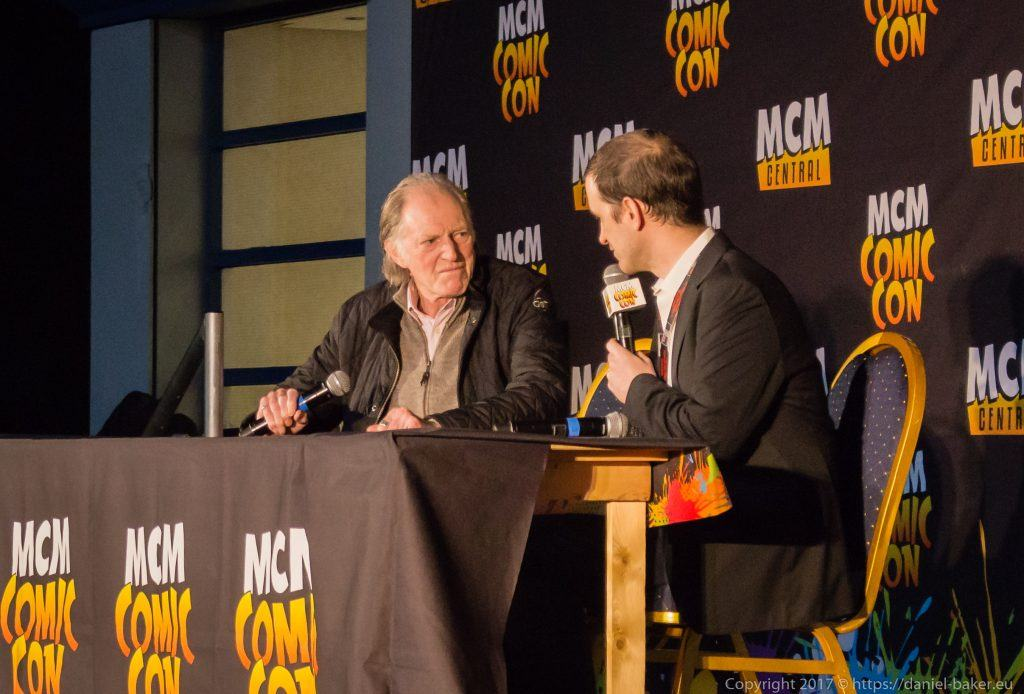 David Bradley on stage at MCM Comiccon November 2017