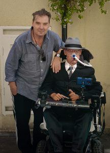 Brendan Coyle and Daniel Baker before watching The Price