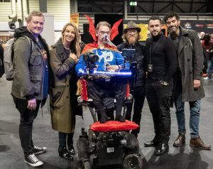 Daniel Baker with the cast of Stairs at MCM Comiccon November 2018