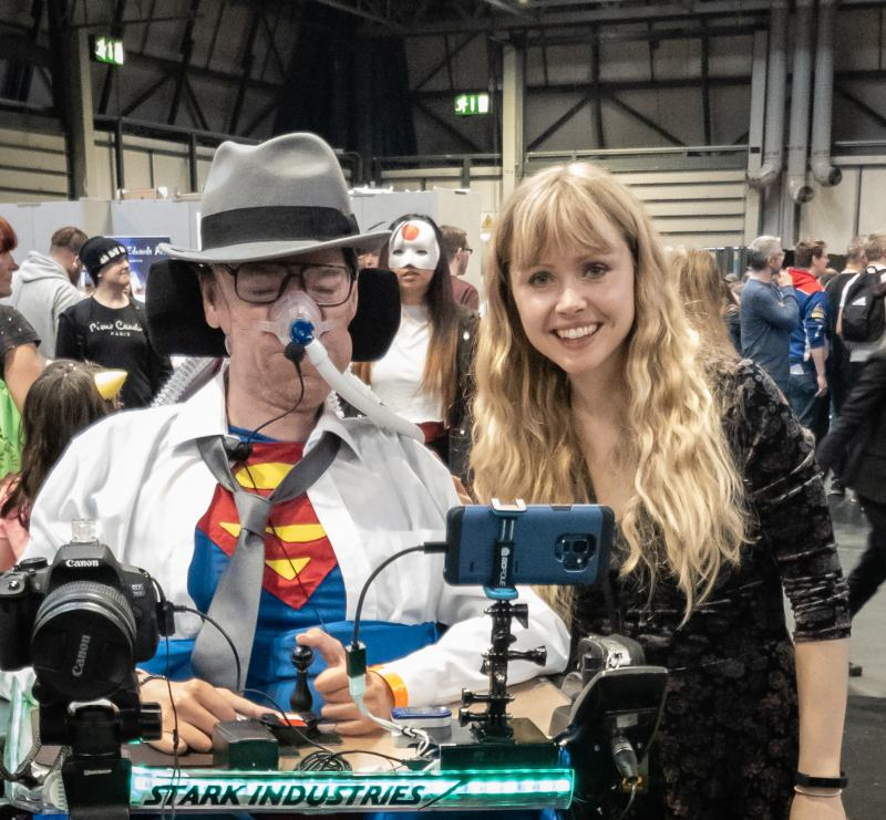 Ingvild Deila with Daniel Baker at MCM Comiccon November 2018