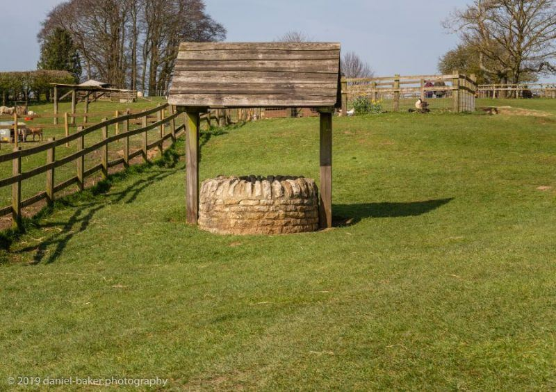 A well on the historical tray at Cotswold Farm Park