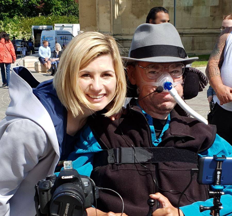 Dr Who Jodie Whittaker with Daniel Baker