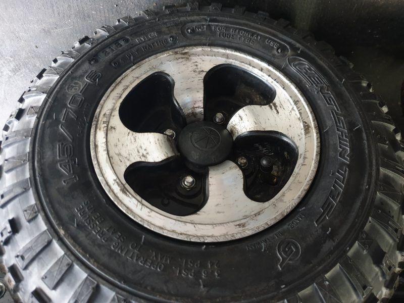 A wheelchair tyre