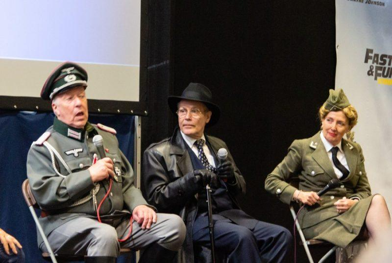 'Allo 'Allo! Guy Siner, Richard Gibson & Kim Hartman in German WWII army costume at Collectormania 26