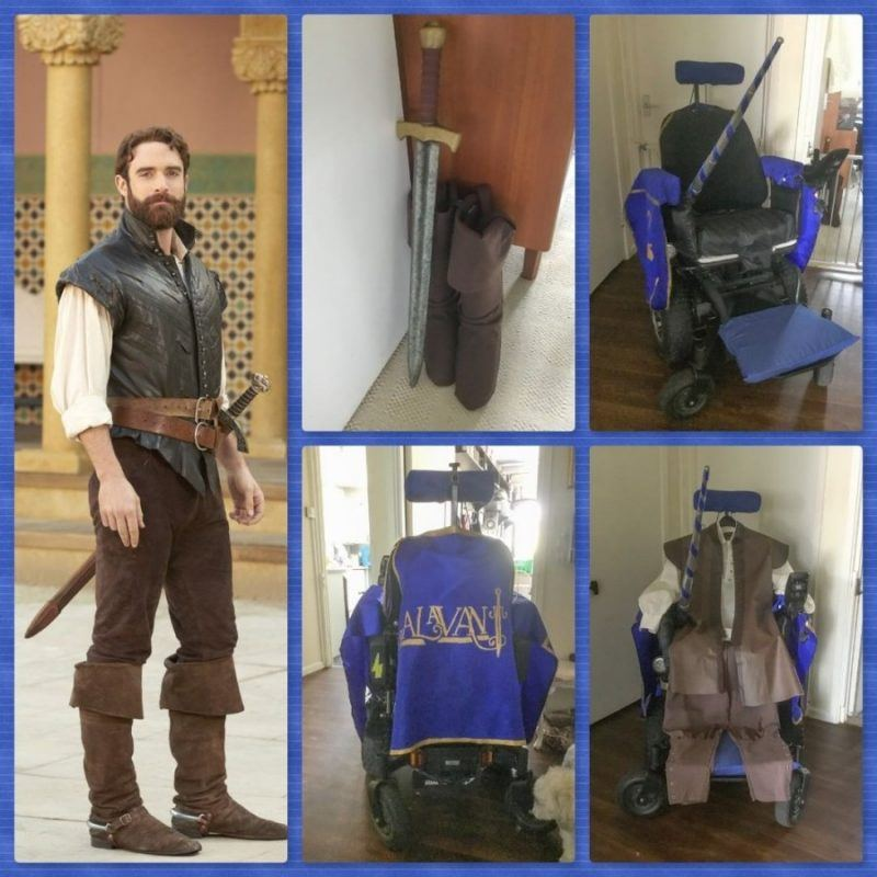 Collage of Galavant cosplay items for LFCC Comiccon 2019