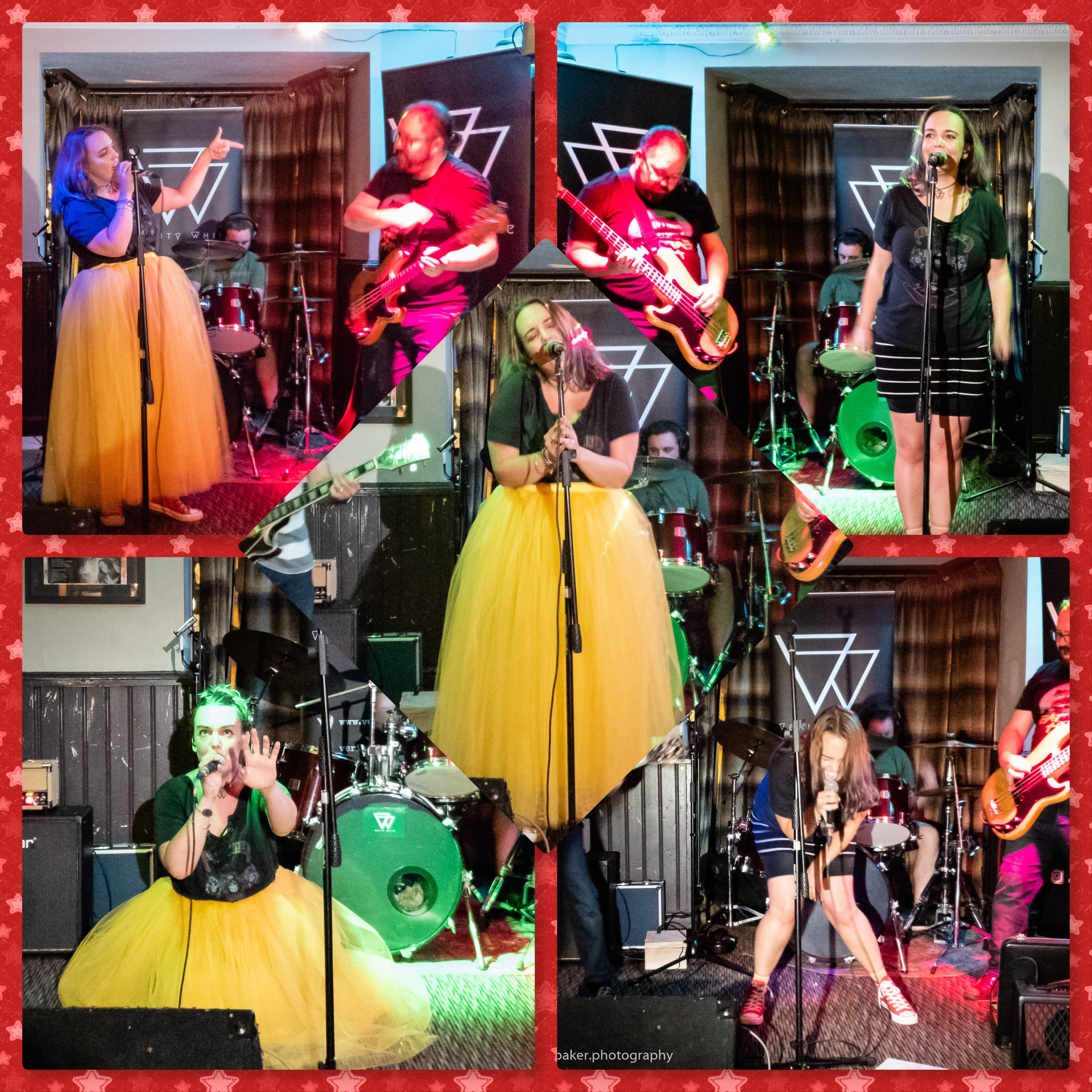 College of images of Verity White performing from Verity White's Gig at the Cotswold Inn