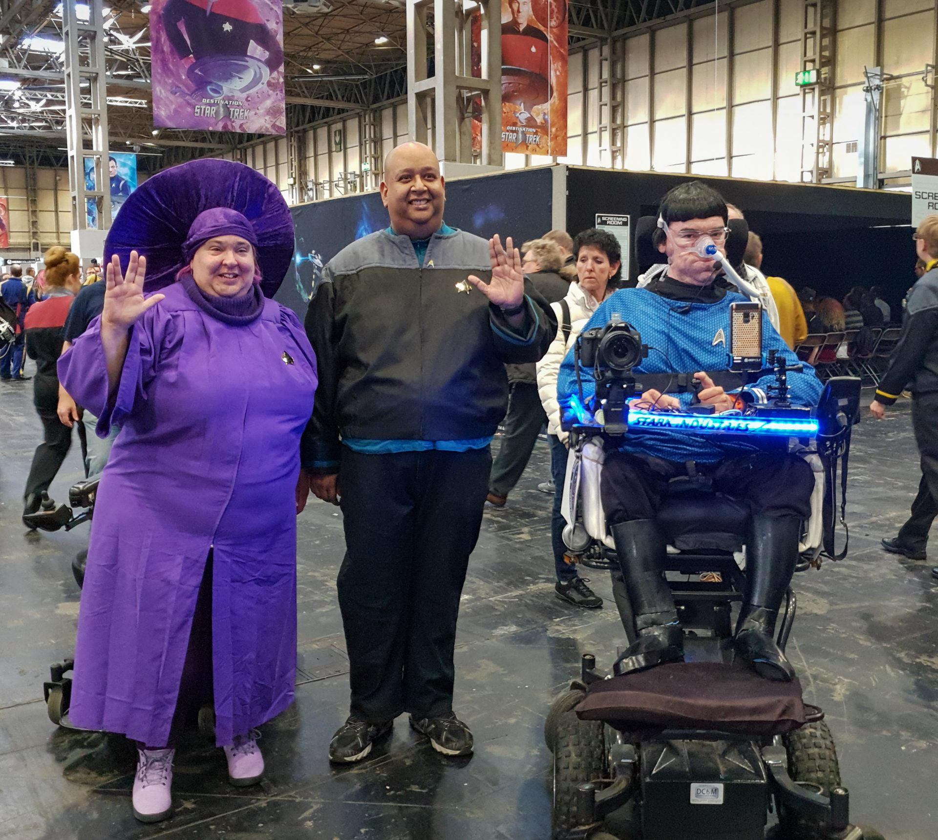 Daniel Baker Dressed Spock with cosplayers