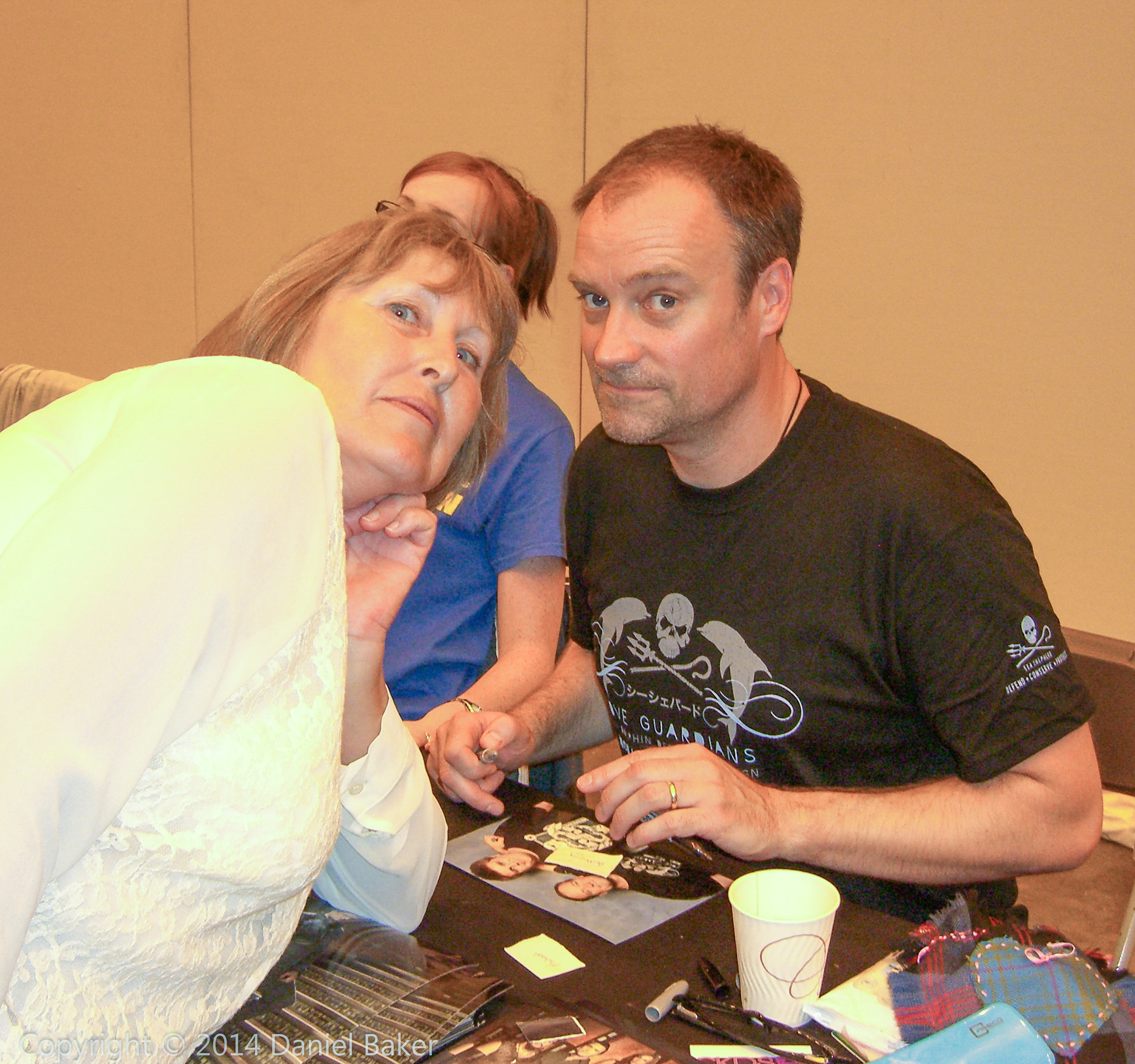 Mum Julia with David Hewlett