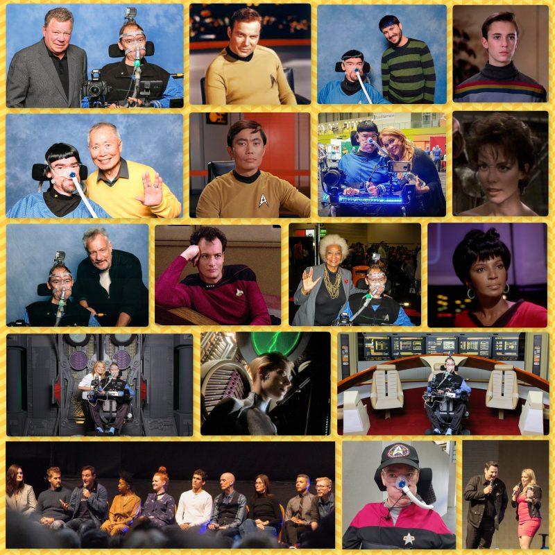 Collage of Star Trek celebrities