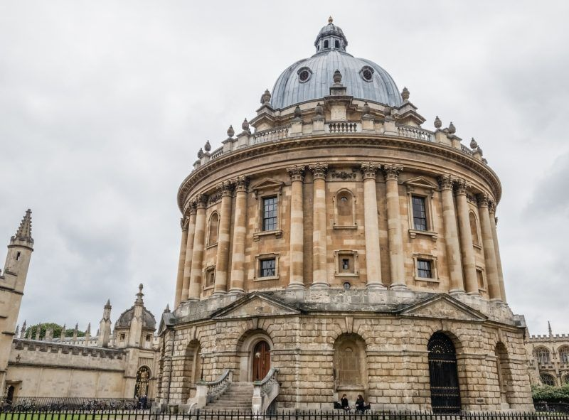 The Radcliffe Camera, an old domed circular building