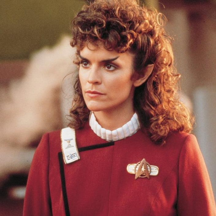Robin Curtis as Saavik in Star Trek