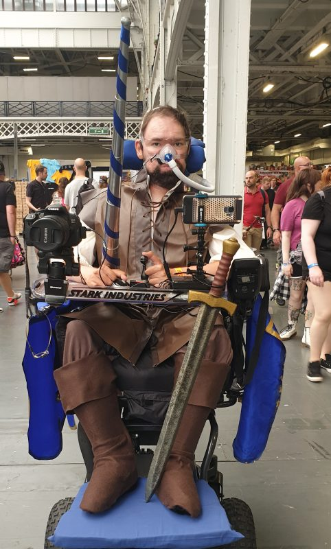 Daniel Baker in a knight (Galavant) cosplay at LFCC