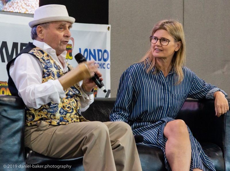 Sylvester McCoy and Sophie Aldred at LFCC