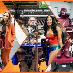 Collage of photos of Daniel Baker in cosplay at MCM Comiccon November 2019