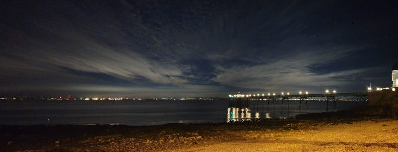 Clevedon pier at night