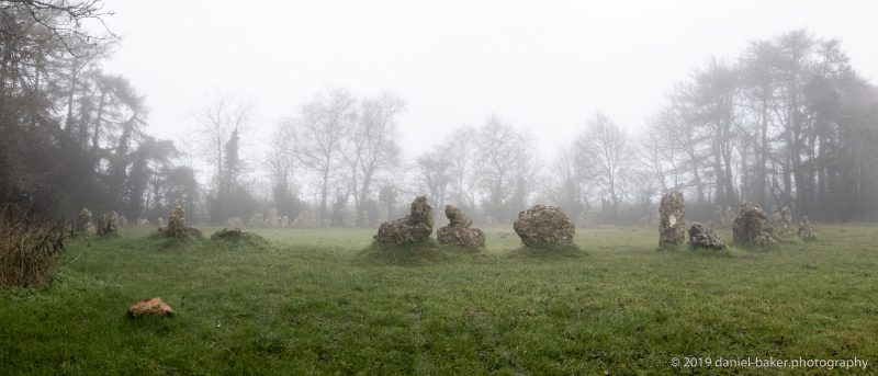 misty picture of the Rollright stones