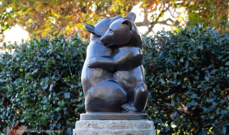 Bear statue in Hyde Park, London
