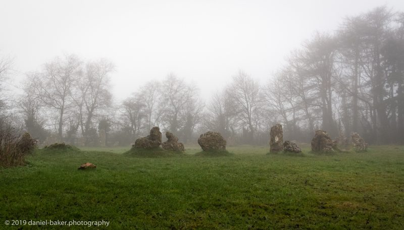 Misty images of the Rollright Stones