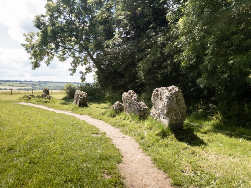 Path in a field looking passed the rollright stones