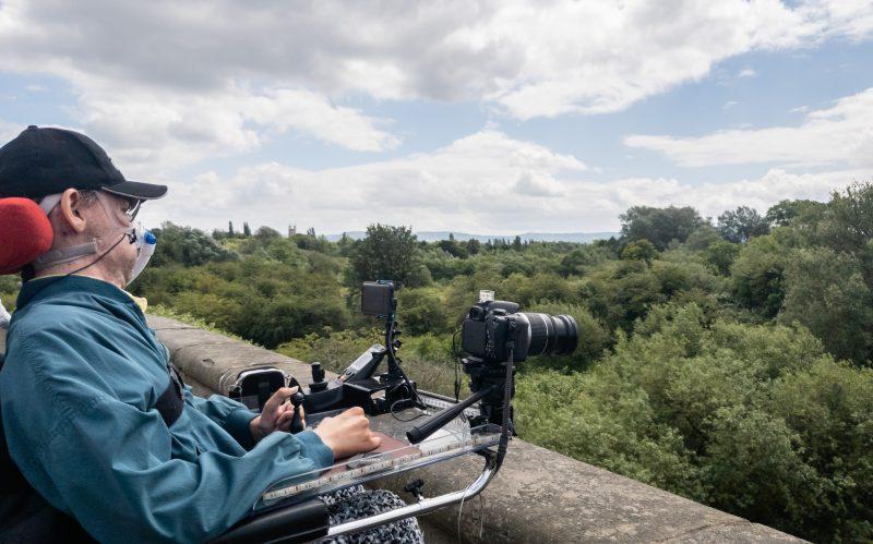 Daniel Baker on over bridge looking towards Gloucester