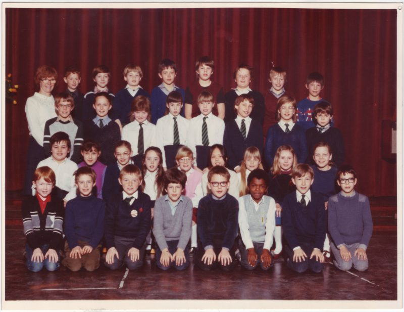 School photograph from the 1980's