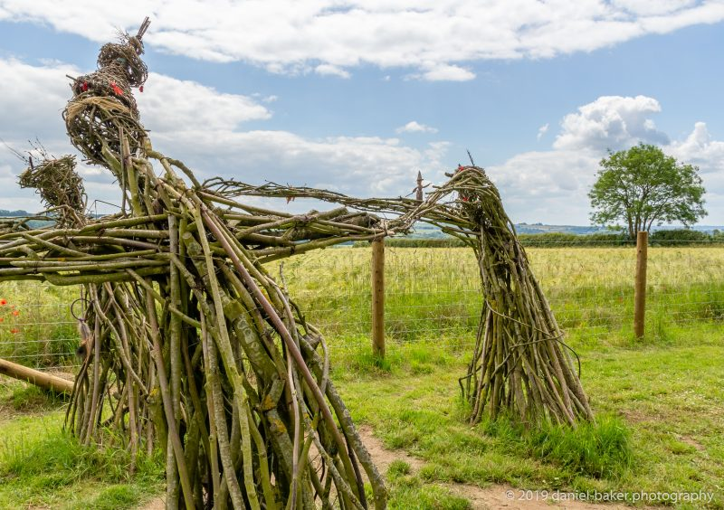 wicker witches/faries at the Rollright stones