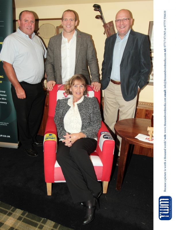 John Search, Mike Tindall and Darren Stevens with Julia Baker image copyright prestbury marketing