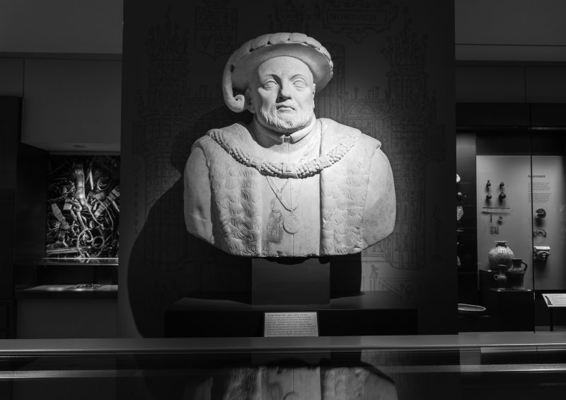 Bust of Henry VIII in the Ashmolean museum in Oxford