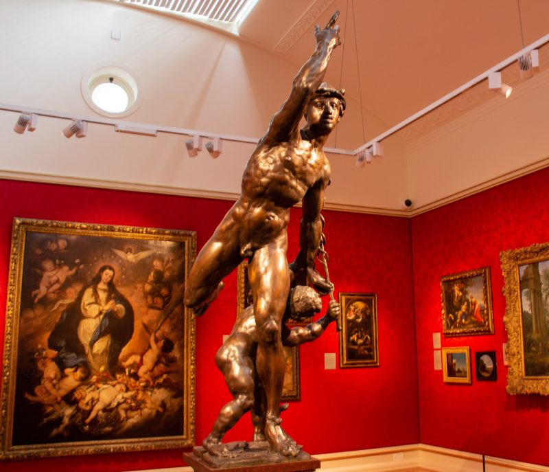 Statue of Mercury in the Ashmolean museum in Oxford