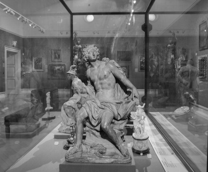 Statue in the Ashmolean museum in Oxford
