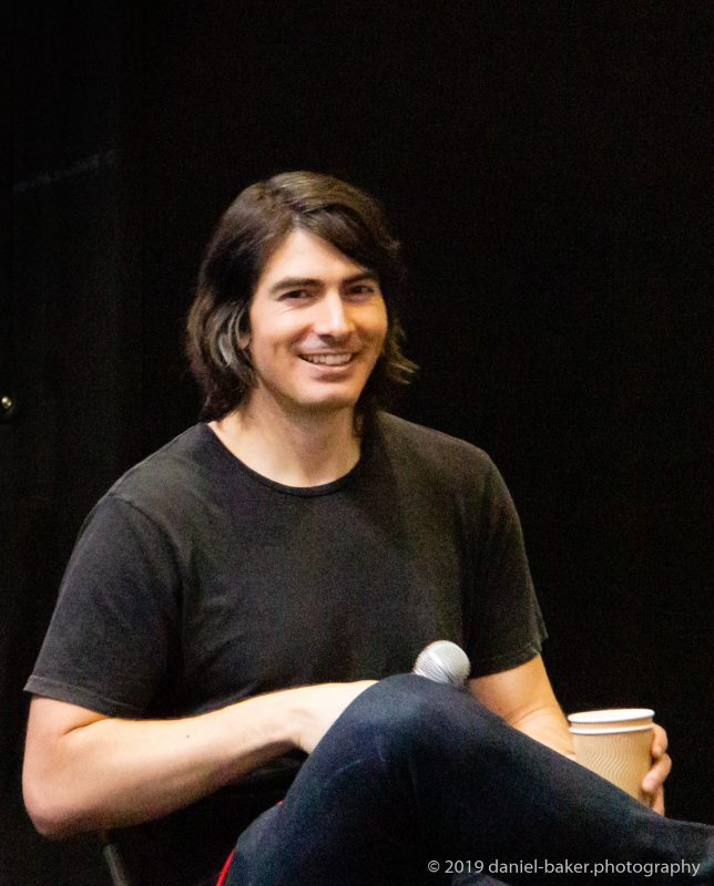 Brandon Routh on a panel at Collectormania 26