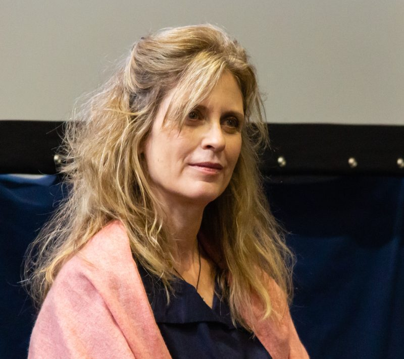 Helen Slater on a panel at Collectormania 26