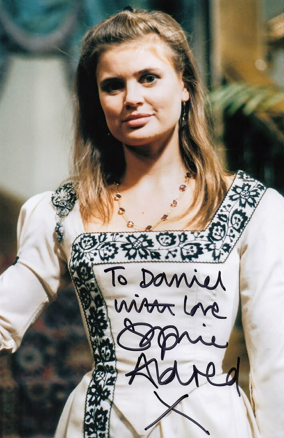 signed photo of Sophie Aldred