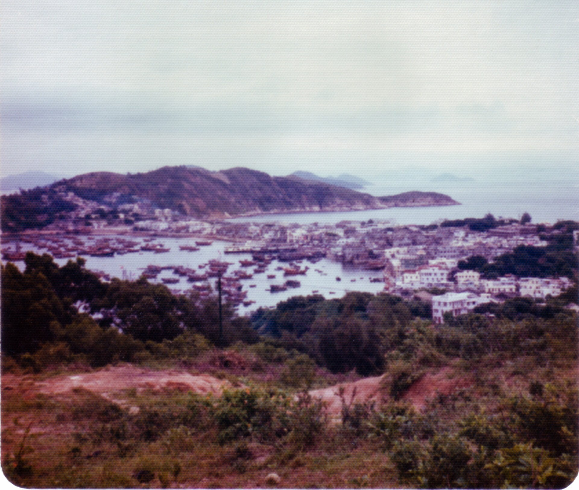 Cheung Chao seen from hills near cemetery on Cheung Chao Hong Kong